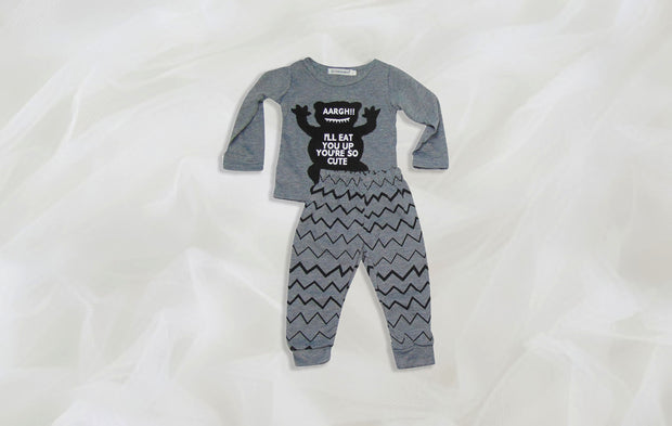Glen Shirt and Pants Baby Set