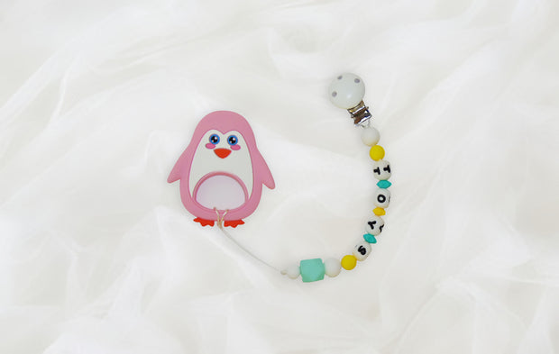 OoOoOo! Baby Teether and Pacifier Clip