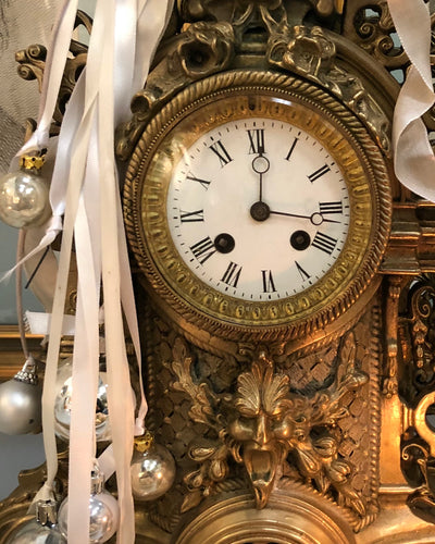 French Baroque Mantel Clock