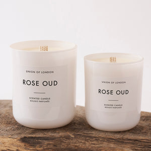 Rose Oud - White Candle