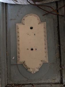 Carved wooden door finger plates