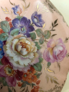 Limoge hand painted porcelain trinket box detail