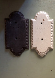 Carved wooden door finger plates 5