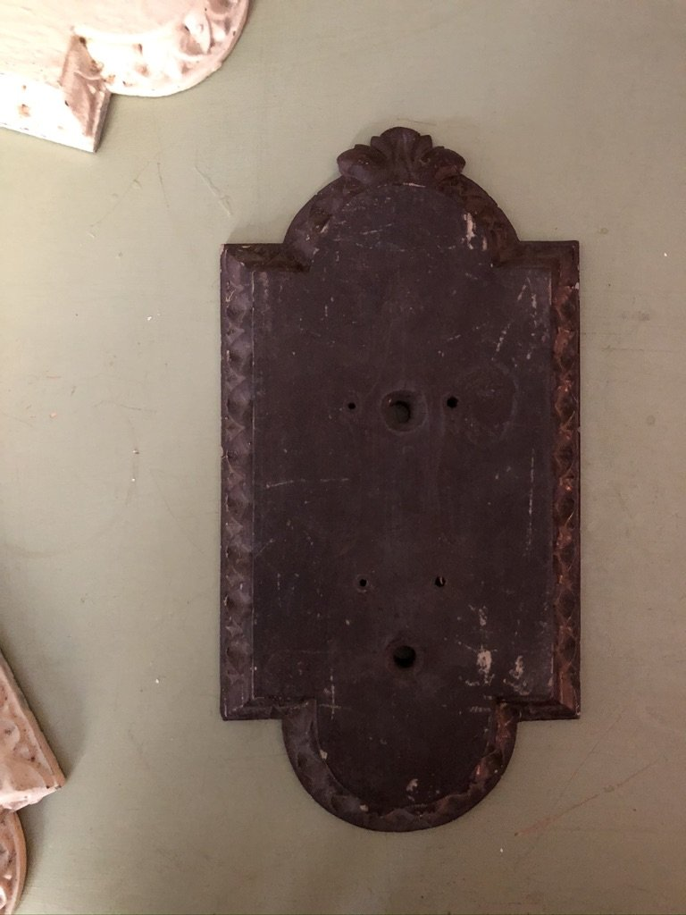 Carved wooden door finger plates D