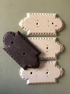 Carved wooden door finger plates 1