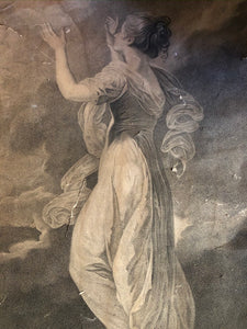 The Bride - Engraving by Sir Joshua Reynolds close up