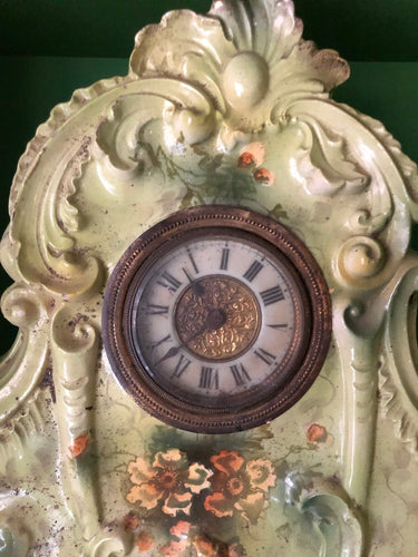 Ansonia Green Mantle Clock