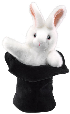 Folkmanis Rabbit In Hat Puppet