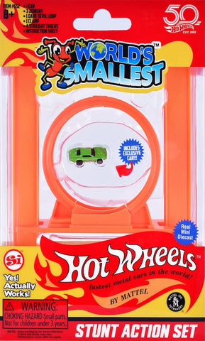 World's Smallest | Hot Wheels Stunt Action Set