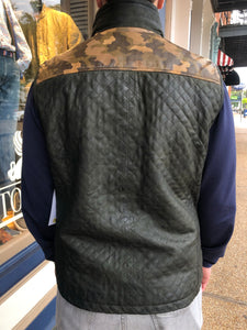 Camo Quilted Leather Vest