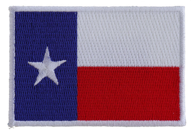 Texas Flag White Border Patch