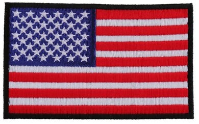 US Flag Patch 4 Inch Black Border