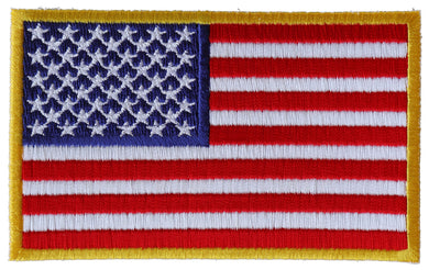 US Flag Patch 4 Inch Yellow Border