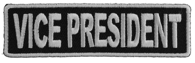 Vice President Patch 3.5 Inch White