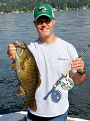 Michael Bennett with a Lake Washington Smallmouth Taken on the Mega Craw