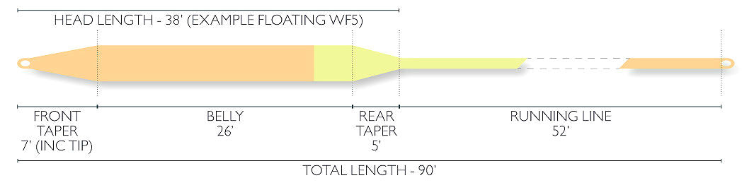 Airflo Xceed Fly Line Diagram
