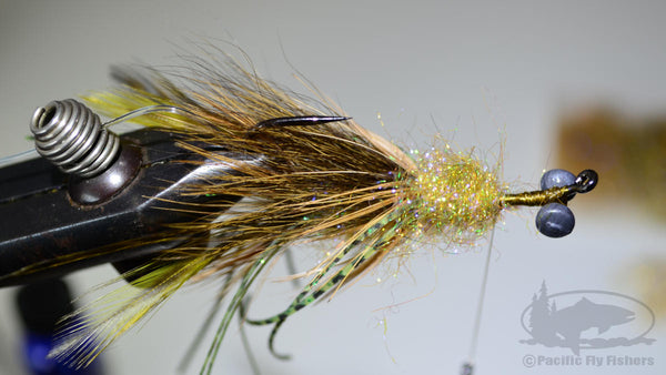 Step 14:  Recipe and Instructions for Tying the Mega Craw Bass Fly