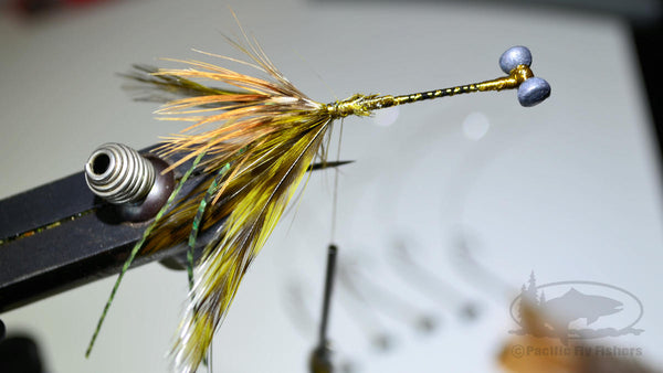 Step 8:  Tying Bennett's Mega Craw Bass Fly