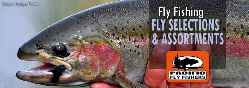 Fly fishing flies, assortments selections