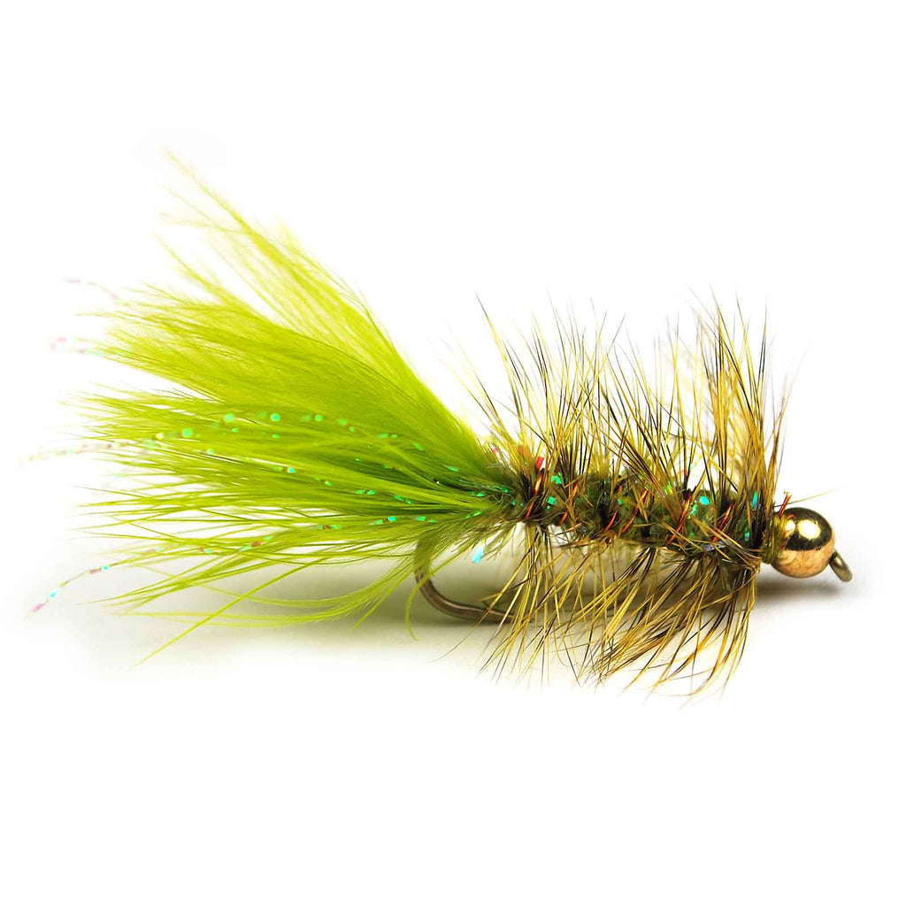 Crystal Bugger - Bead Head - Olive - Pacific Fly Fishers