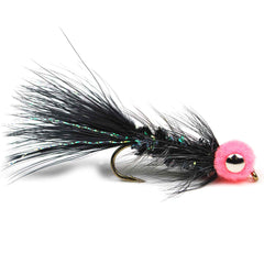 Egg Sucking Leech Barbell Eyes - Black - Pacific Fly Fishers