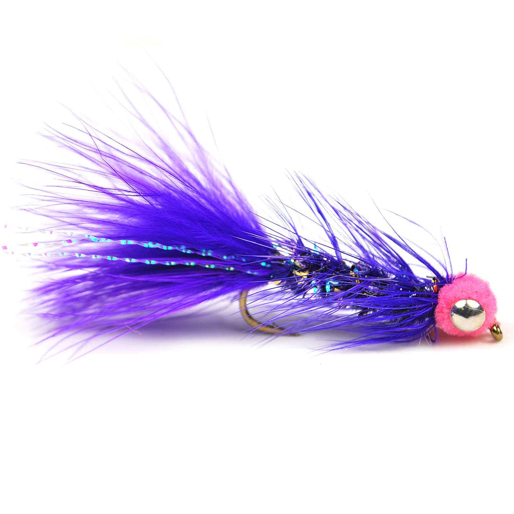 Egg Sucking Leech Barbell Eyes - Purple - Pacific Fly Fishers