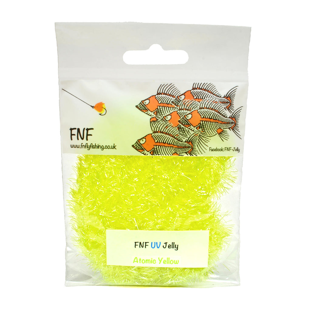 FNF Jelly Fritz - 15mm - Fly Tying Materials - Atomic Yellow