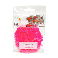 FNF Jelly Fritz - 15mm - Fly Tying Materials - Shocking Pink