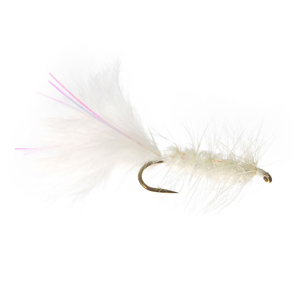Flashabou Bugger - White - Pacific Fly Fishers