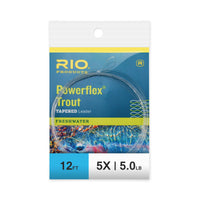 RIO 12ft Powerflex Trout Leaders - 5X