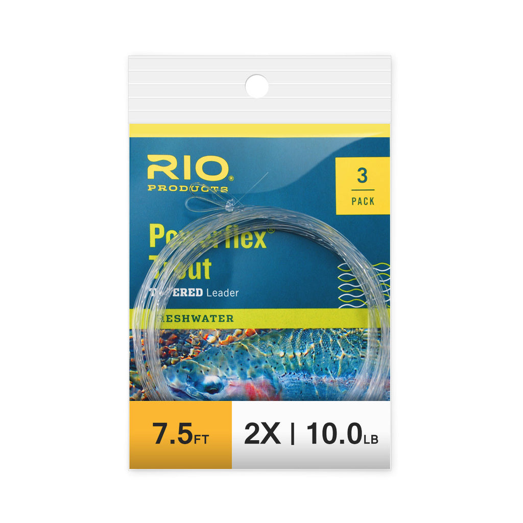 RIO 3 Pack 7.5ft Powerflex Trout Leaders - 2X
