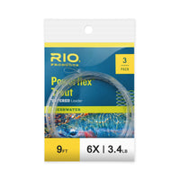 RIO 3 Pack 9ft Powerflex Trout Leaders - 6X