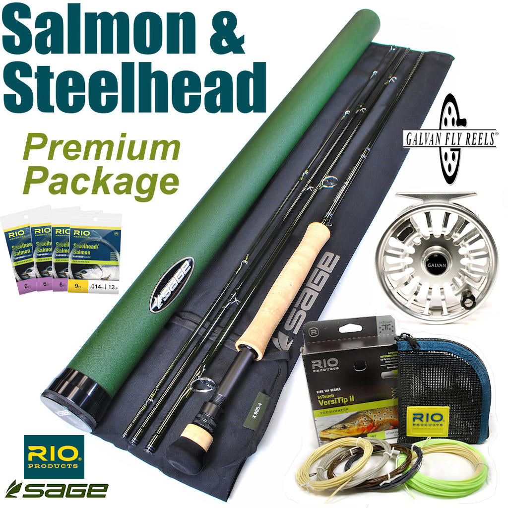 Salmon Steelhead Premium Fly Rod and Reel Fishing Package Outfit Sale
