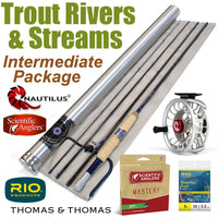 Trout River & Stream Intermediate Rod and Reel Fly Fishing Package Outfit