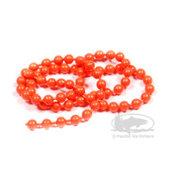 Bead Chain Eyes - Fluorescent Orange
