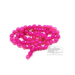 Bead Chain Eyes - Fluorescent Pink