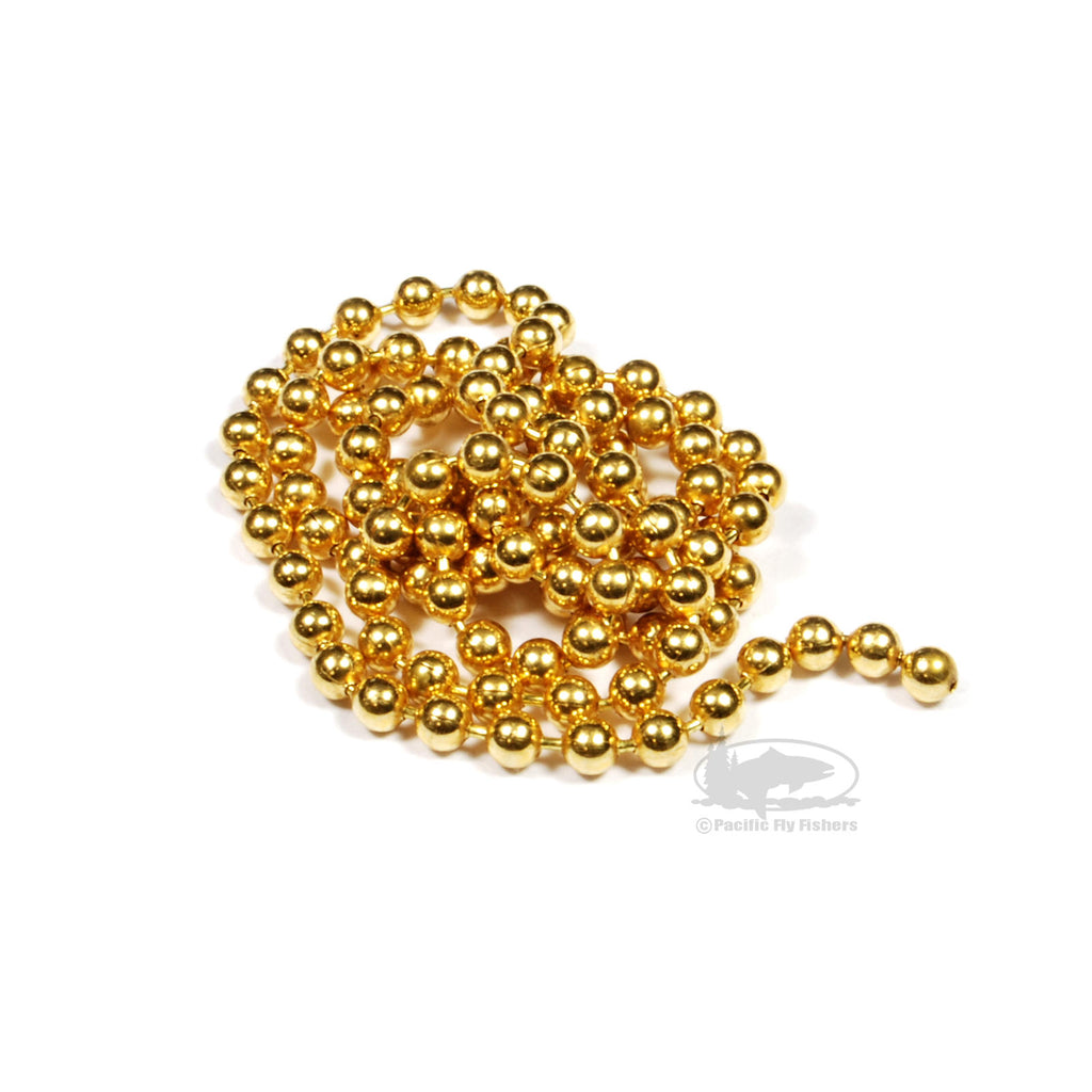 Gold Bead Chain Eyes - Fly Tying Materials