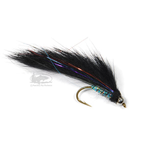 Bead Head Electric Leech - Black - from Aqua Flies