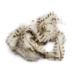 Black Barred Rabbit Strips - White