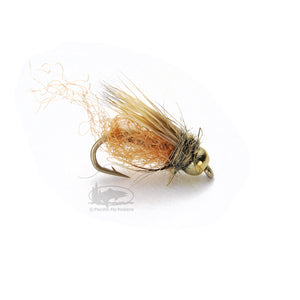 Bead Head Caddis Sparkle Pupa - Tan