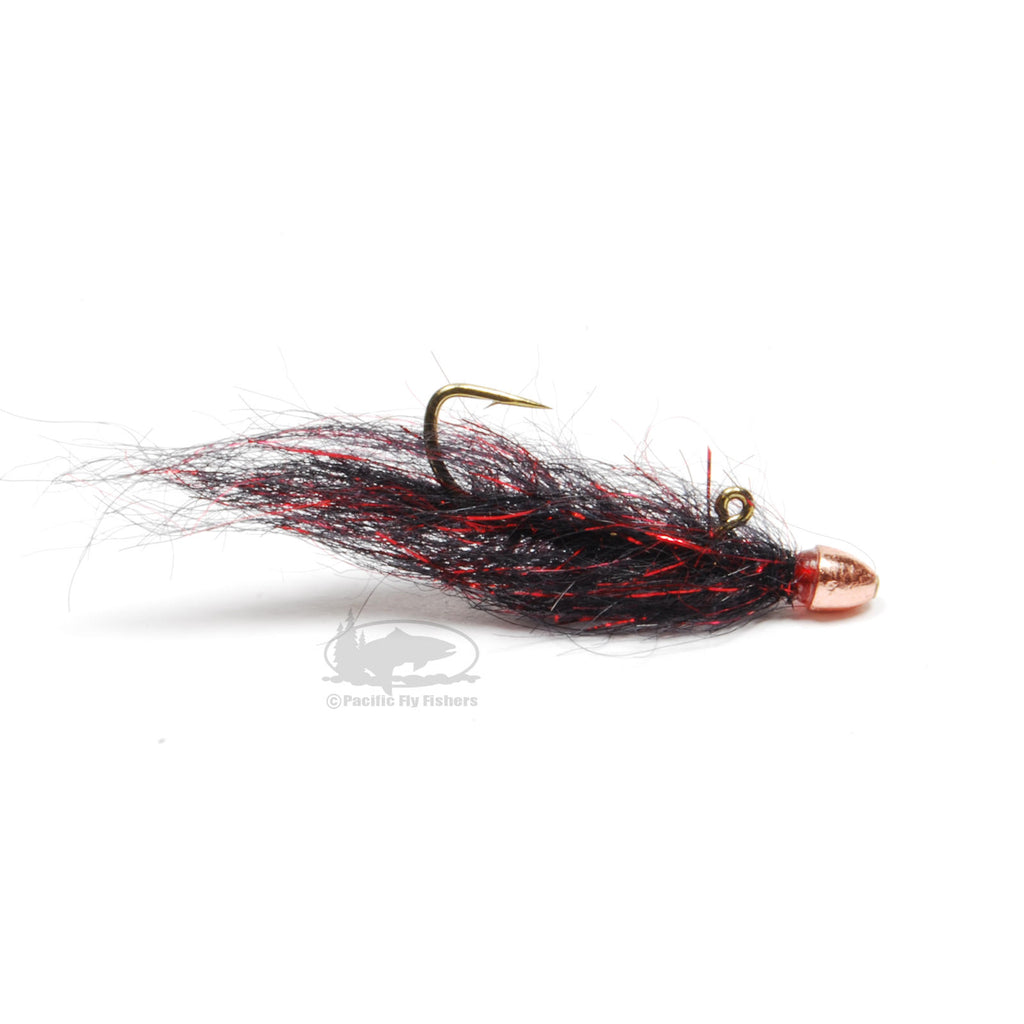Chan's Balanced Ruby Eyed Leech - Balanced Leech Fly