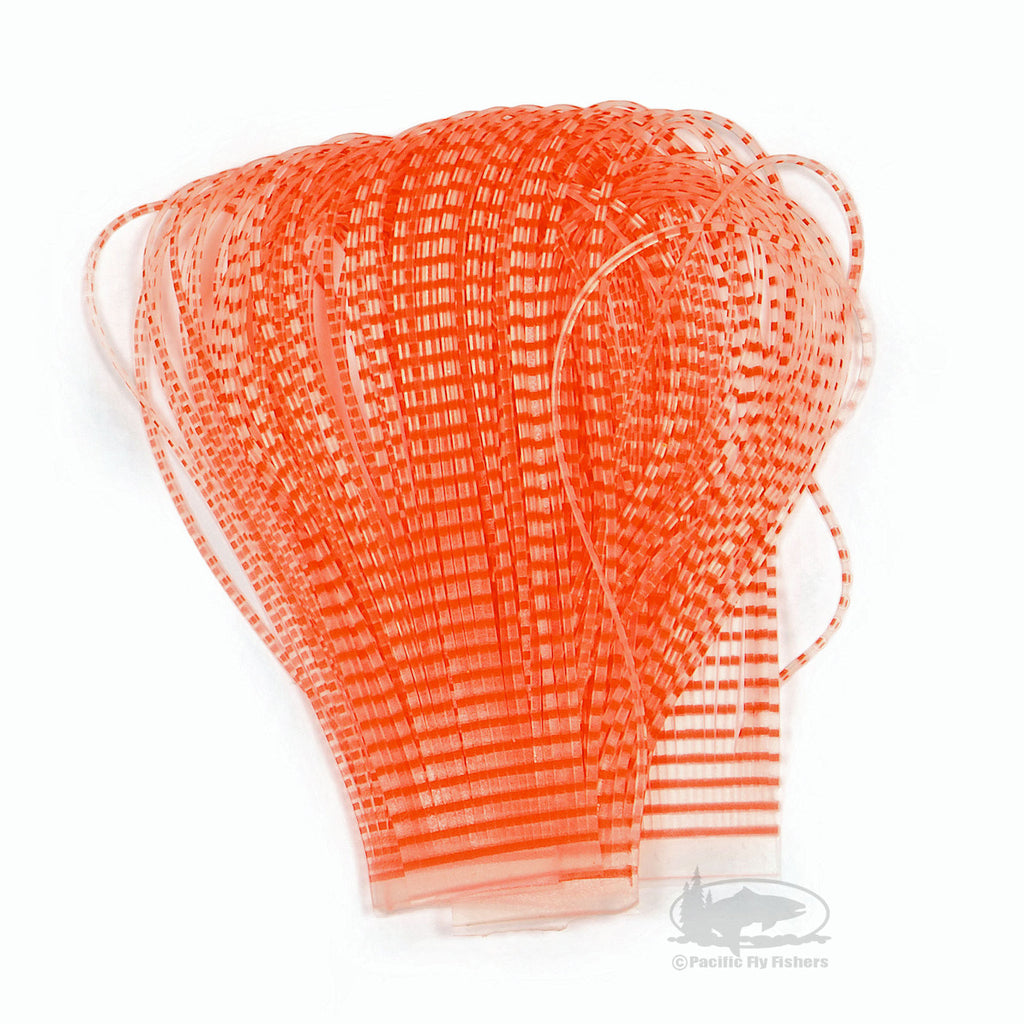Chicone's Barred Crusher Legs - Fl. Orange/Clear - Regular and Micro