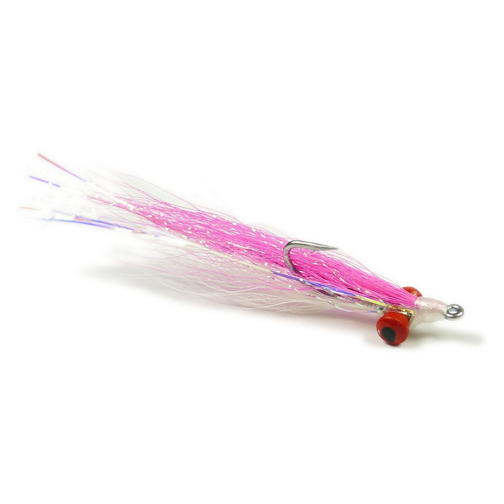Clouser Minnow - Pink/White - Pacific Fly Fishers