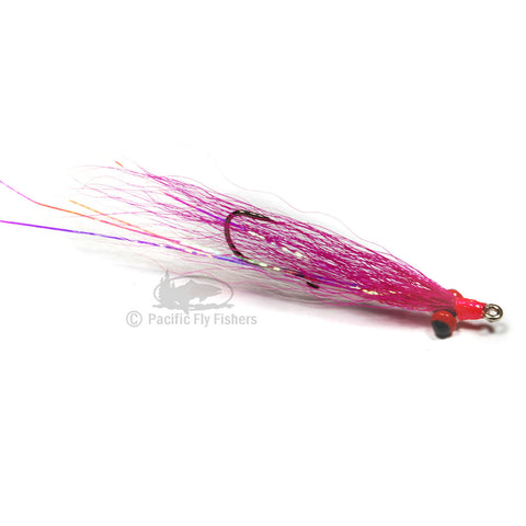 Clouser Minnow Stinger - Pink/White