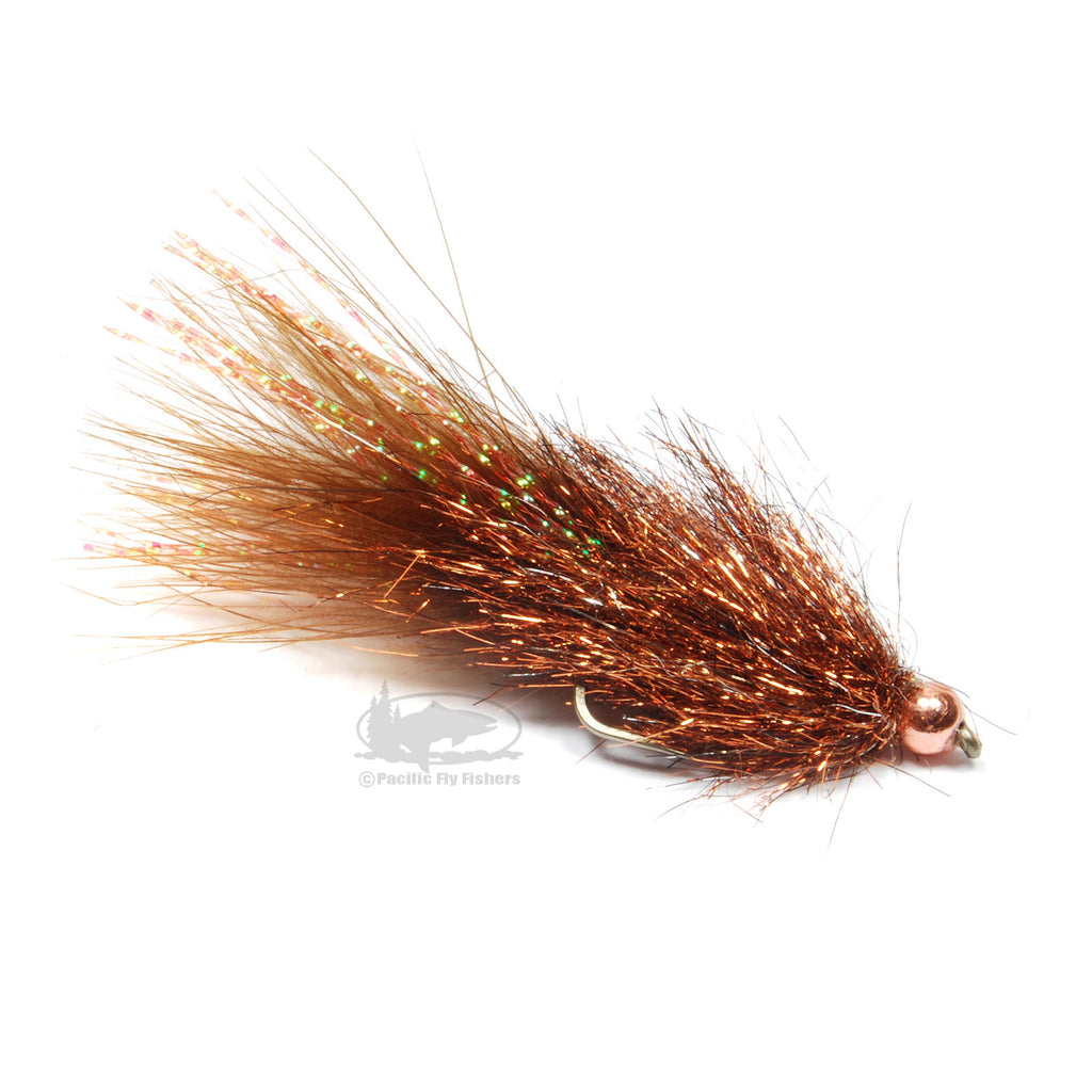 Coffee's Sparkle Minnow - Crayfish Brown - Streamer Fly