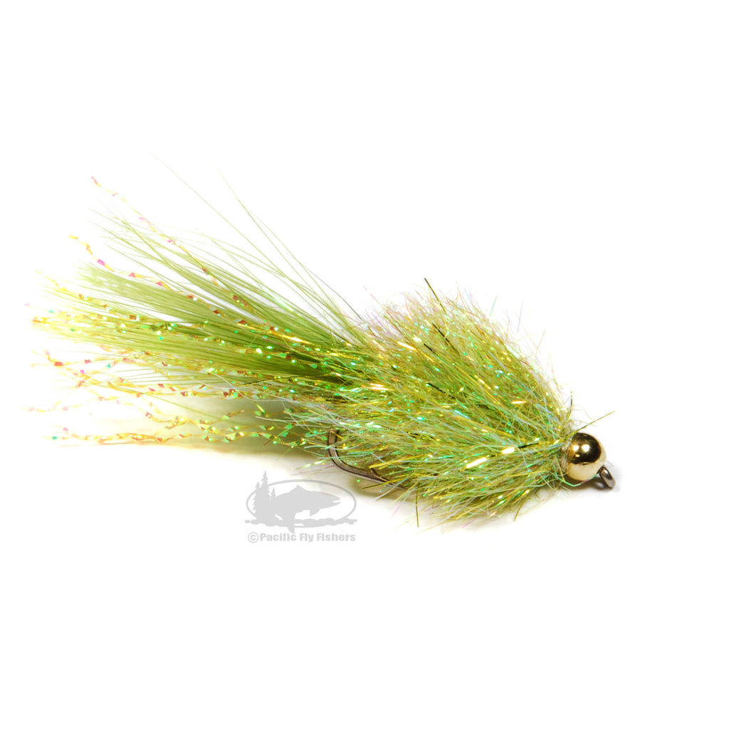 Coffee's Sparkle Minnow - Light Olive - Streamer Fly