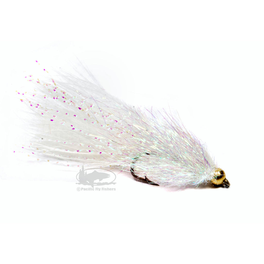 Coffee's Sparkle Minnow - Pearl Gold - Streamer Fly