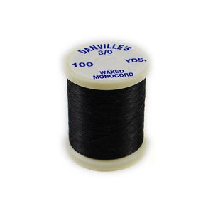 Danville Waxed Monocord Thread - Black