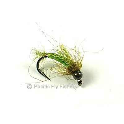 Deep Six Caddis Pupa - Chartreuse - Pacific Fly Fishers