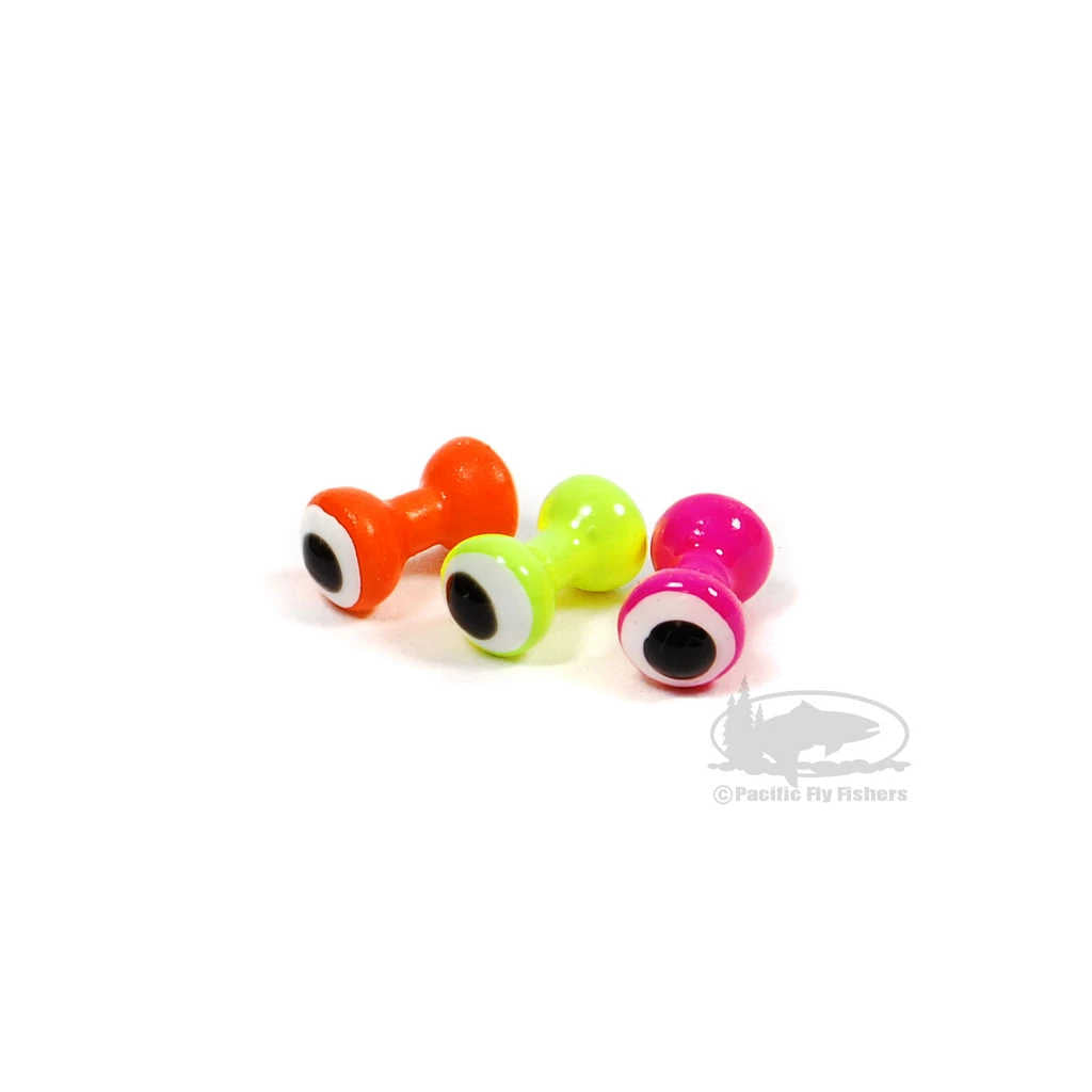 Hareline Double Pupil Brass Eyes - Fly Tying Dumbbell Painted Eyes